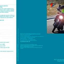 Dépliant stage moto 2010