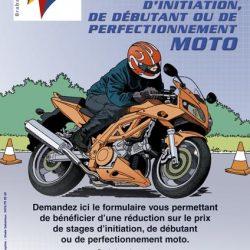 Affiche illustrée moto