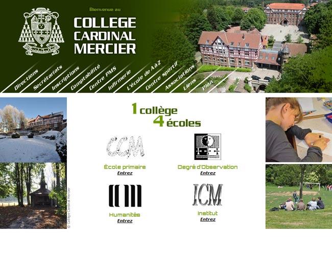 Site Collège Cardinal Mercier
