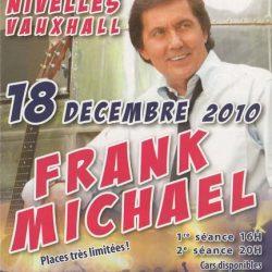 Flyer concert Frank Michael
