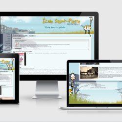 Site sur différents écrans