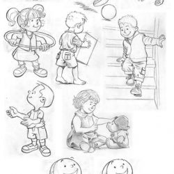 Différents dessins et étude pour Gymini