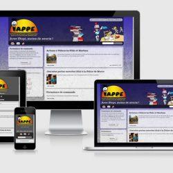 Captures du site sur écrans