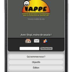 Le site du IAPPE sur mobile