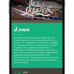 Site avec affichage sur mobile