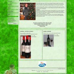 Screenshot du site Produits Hongrois