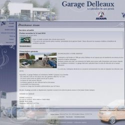 Screenshot du site du garage delleaux