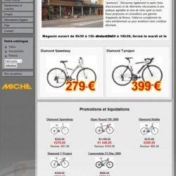 Screenshot du site cycle Pitau petit écran
