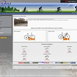 Screenshot du site cycle Pitau large