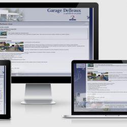Site Delleaux sur différents écrans