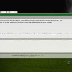 Screenshot de la page d