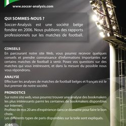 Flyer de Soccer Analysis