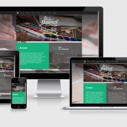 Site avec affichage sur écrans